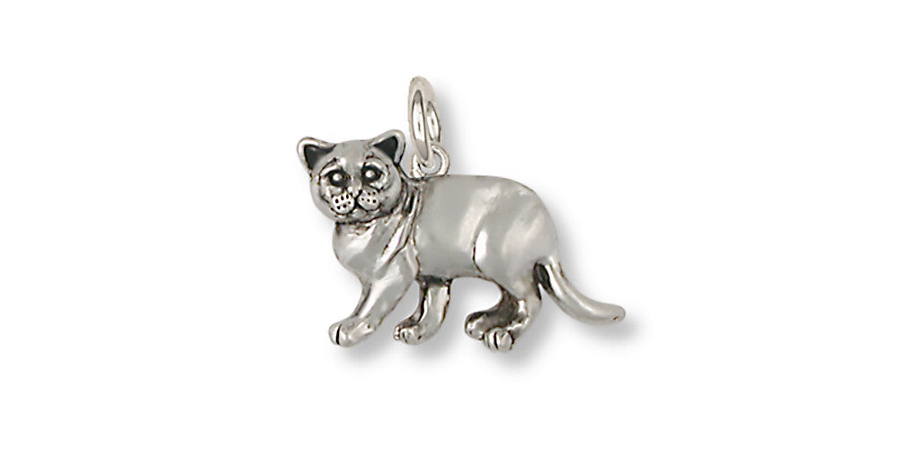 British Shorthair Charms British Shorthair Charm Sterling Silver Cat Jewelry British Shorthair jewelry