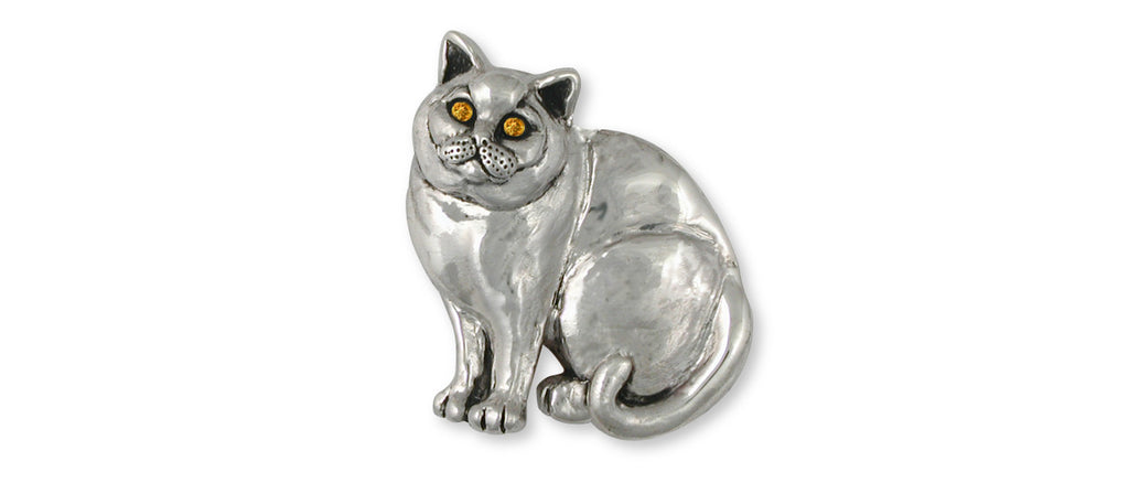 British Shorthair Charms British Shorthair Brooch Pin Sterling Silver Cat Jewelry British Shorthair jewelry