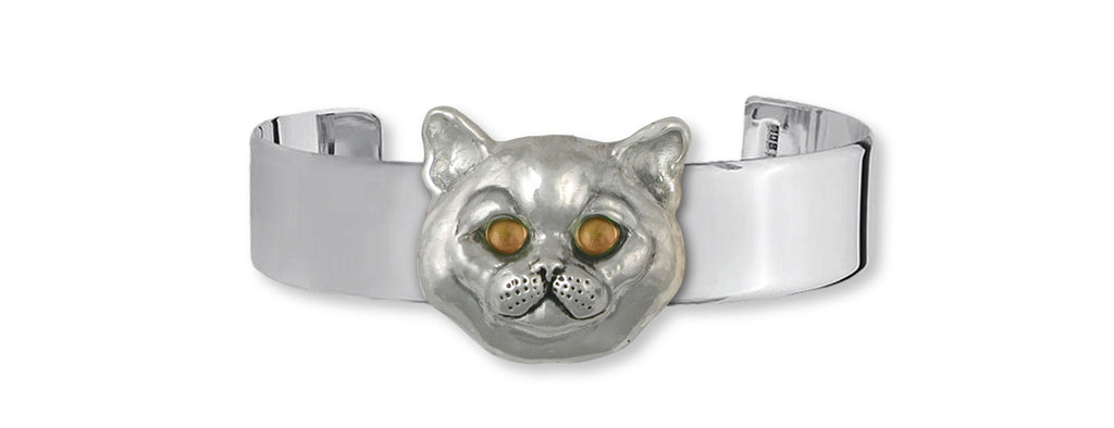 British Shorthair Charms British Shorthair Bracelet Sterling Silver Cat Jewelry British Shorthair jewelry