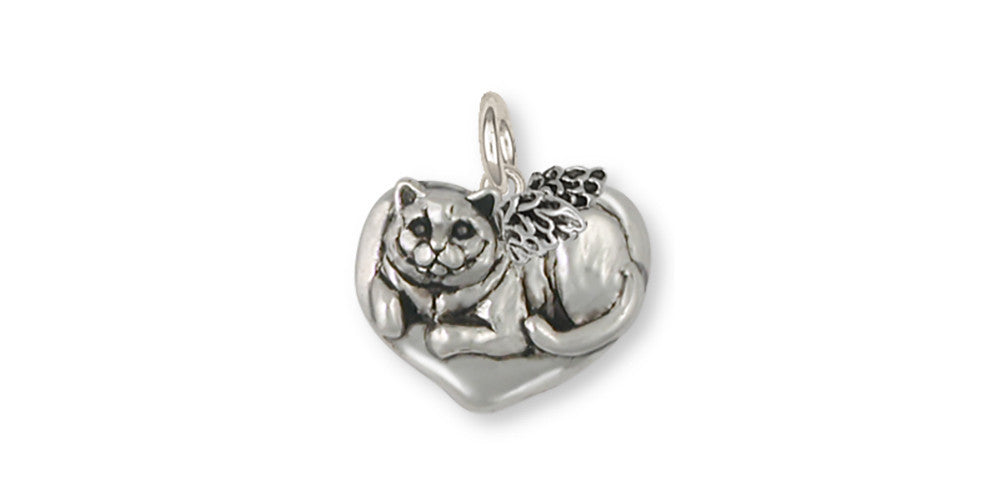 British Shorthair Angel Charms British Shorthair Angel Charm Sterling Silver Cat Jewelry British Shorthair Angel jewelry
