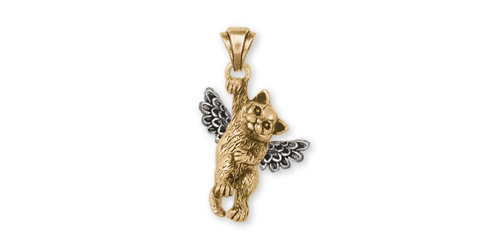 British Shorthair Angel Charms British Shorthair Angel Pendant Gold Vermeil Cat Jewelry British Shorthair Angel jewelry