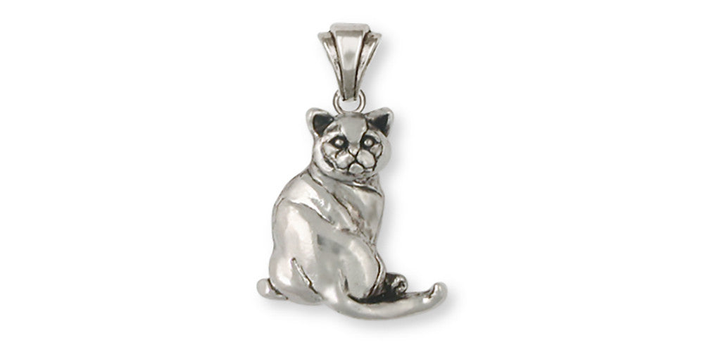 British Shorthair Charms British Shorthair Pendant Sterling Silver Cat Jewelry British Shorthair jewelry