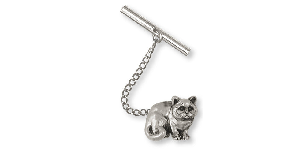 British Shorthair Charms British Shorthair Tie Tack Sterling Silver Cat Jewelry British Shorthair jewelry
