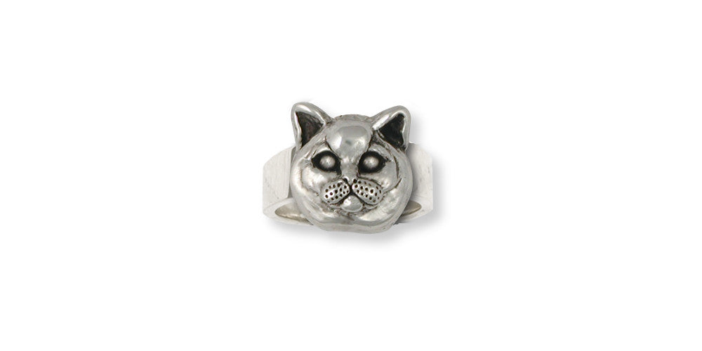 British Shorthair Charms British Shorthair Ring Sterling Silver Cat Jewelry British Shorthair jewelry
