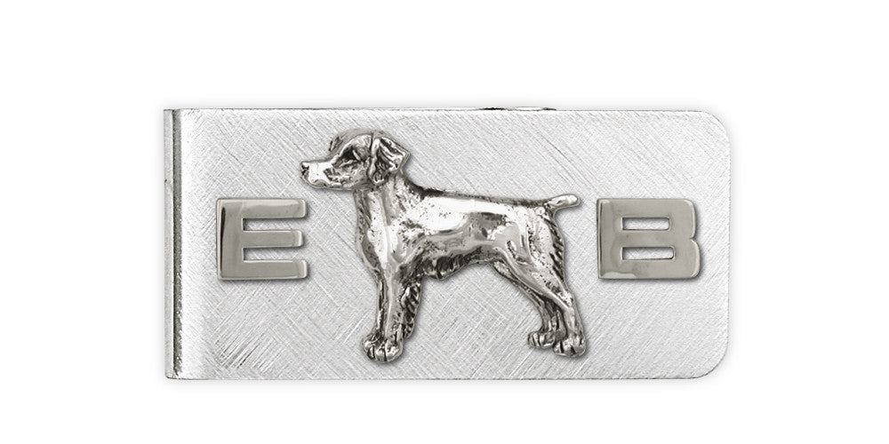 Brittany Dog Charms Brittany Dog Money Clip Handmade Sterling Silver Dog Jewelry Brittany dog jewelry
