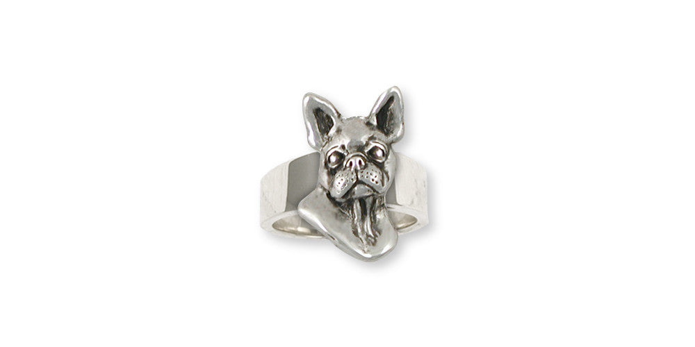 Boston Terrier Charms Boston Terrier Ring Sterling Silver Dog Jewelry Boston Terrier jewelry