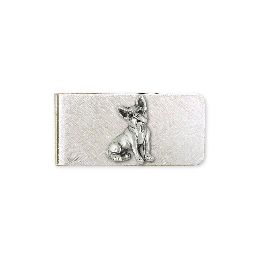 Boston Terrier Charms Boston Terrier Money Clip Sterling Silver Dog Jewelry Boston Terrier jewelry