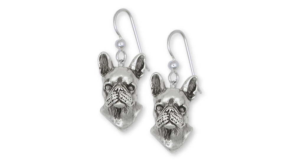 Boston Terrier Charms Boston Terrier Earrings Sterling Silver Dog Jewelry Boston Terrier jewelry