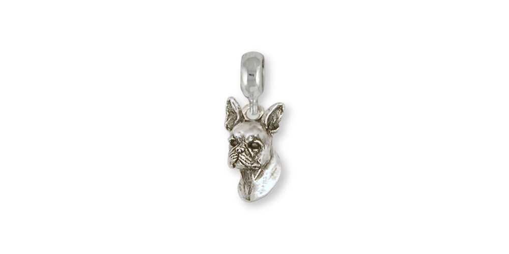 Boston Terrier Charms Boston Terrier Charm Slide Sterling Silver Dog Jewelry Boston Terrier jewelry