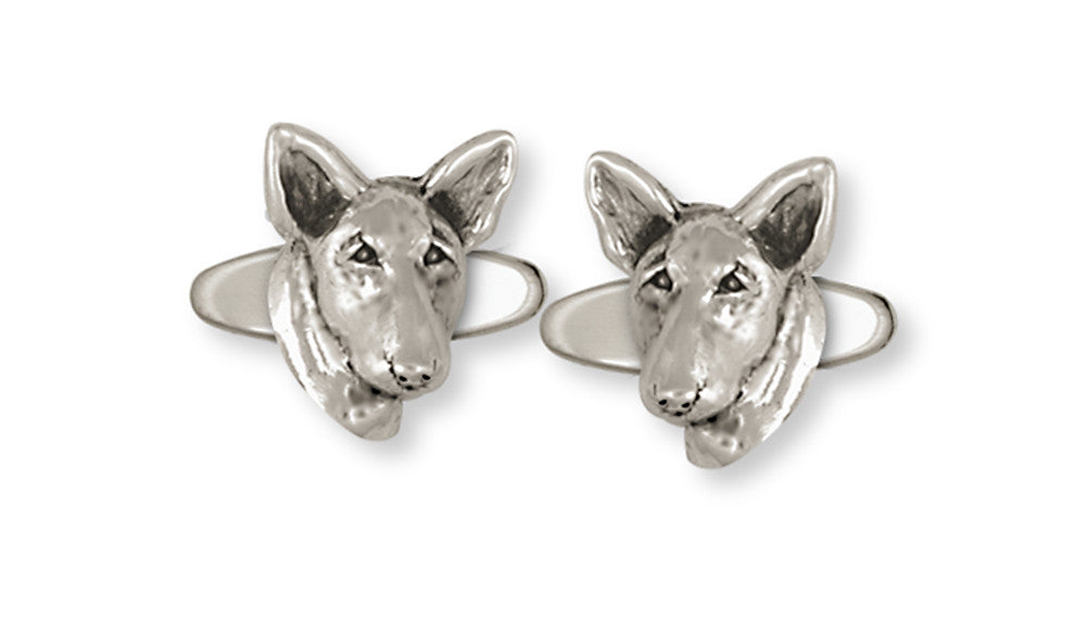 Bull Terrier Charms Bull Terrier Cufflinks Handmade Sterling Silver Dog Jewelry Bull Terrier jewelry