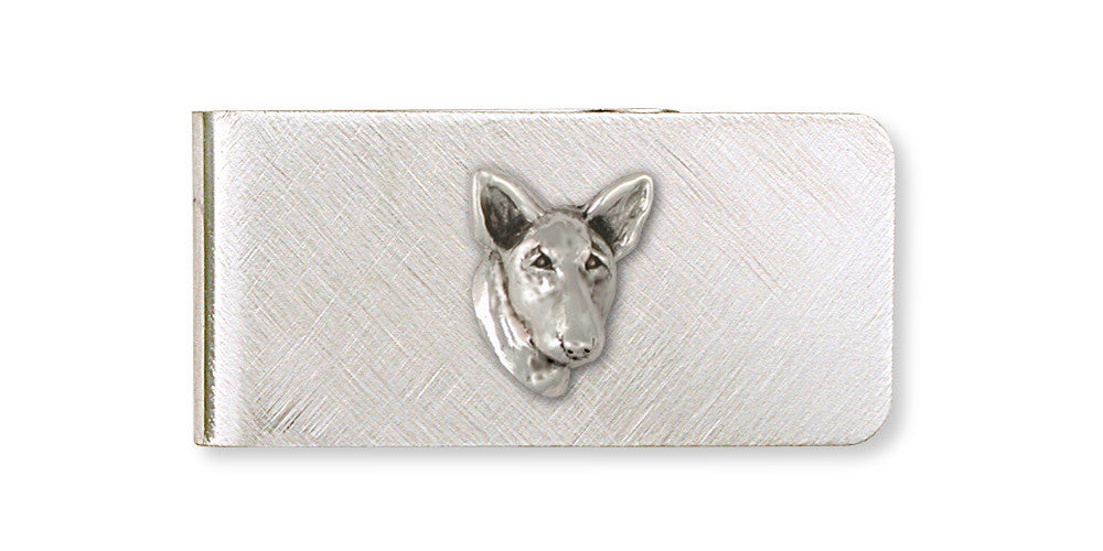 Bull Terrier Charms Bull Terrier Money Clip Handmade Sterling Silver Dog Jewelry Bull Terrier jewelry