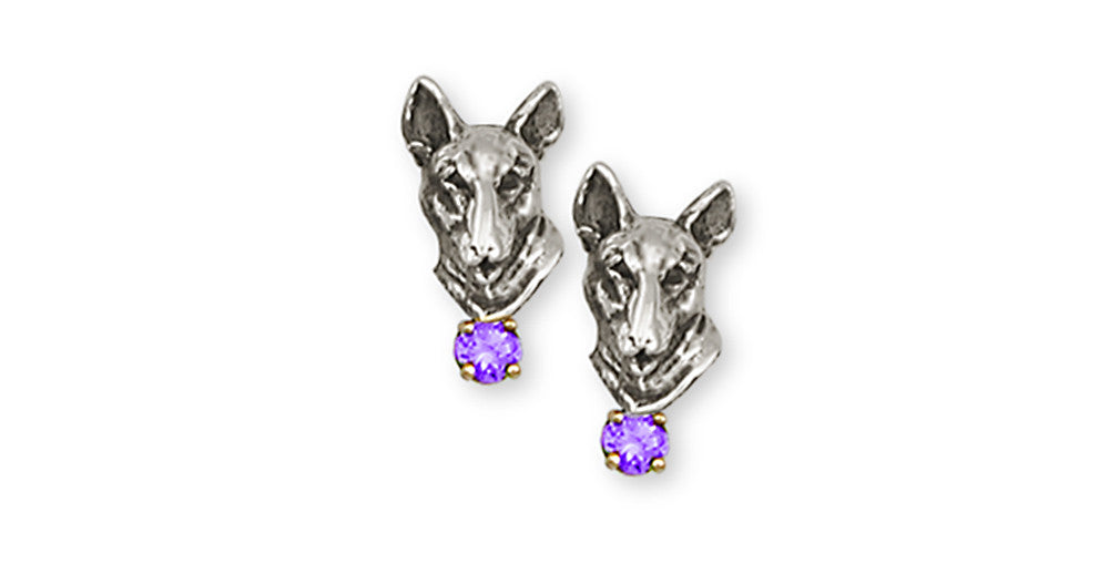 Bull Terrier Charms Bull Terrier Earrings Handmade Sterling Silver Dog Jewelry Bull Terrier jewelry