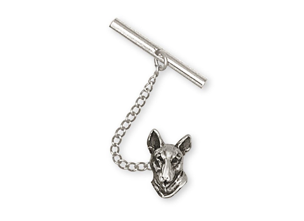 Bull Terrier Charms Bull Terrier Tie Tack Handmade Sterling Silver Dog Jewelry Bull Terrier jewelry