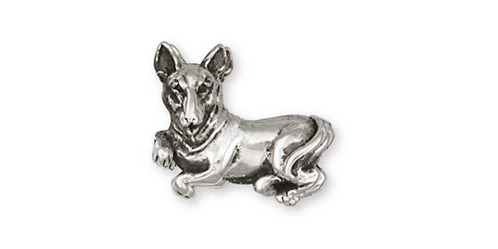 Bull Terrier Charms Bull Terrier Brooch Pin Handmade Sterling Silver Dog Jewelry Bull Terrier jewelry