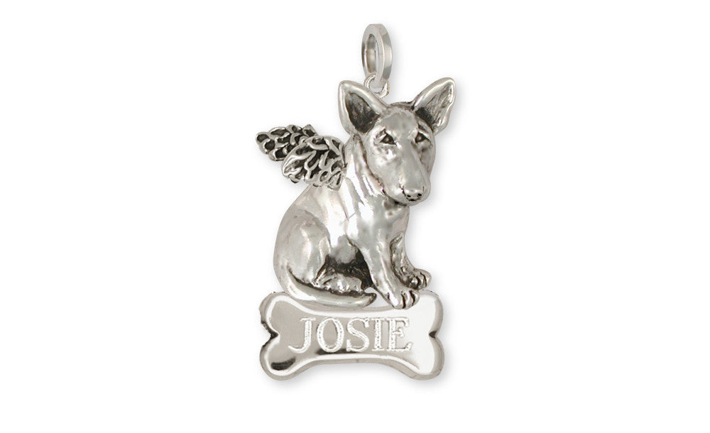 Bull Terrier Angel Charms Bull Terrier Angel Pendant Handmade Sterling Silver Dog Jewelry Bull Terrier angel jewelry