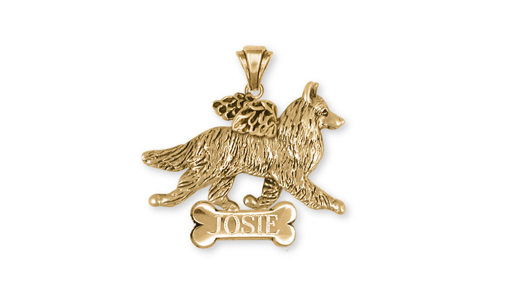Belgian Tervuren Angel Charms Belgian Tervuren Angel Personalized Pendant 14k Yellow Gold Vermeil Dog Jewelry Belgian Tervuren Angel jewelry