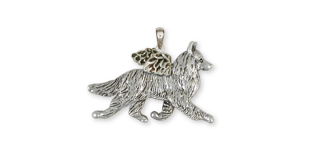 Belgian Tervuren Angel Charms Belgian Tervuren Angel Pendant Sterling Silver Dog Jewelry Belgian Tervuren Angel jewelry