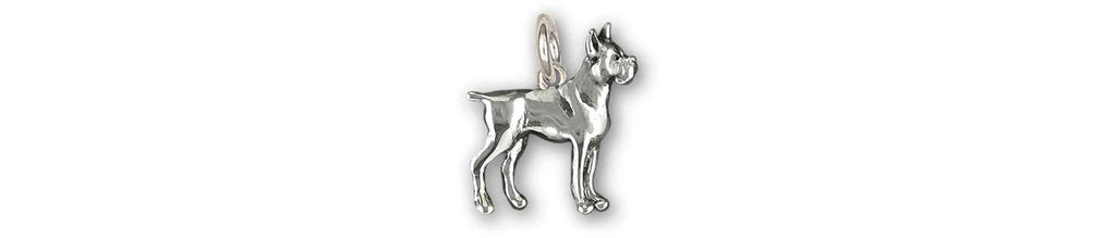 Boxer Charms Boxer Charm Sterling Silver Boxer Dog Jewelry Boxer jewelry