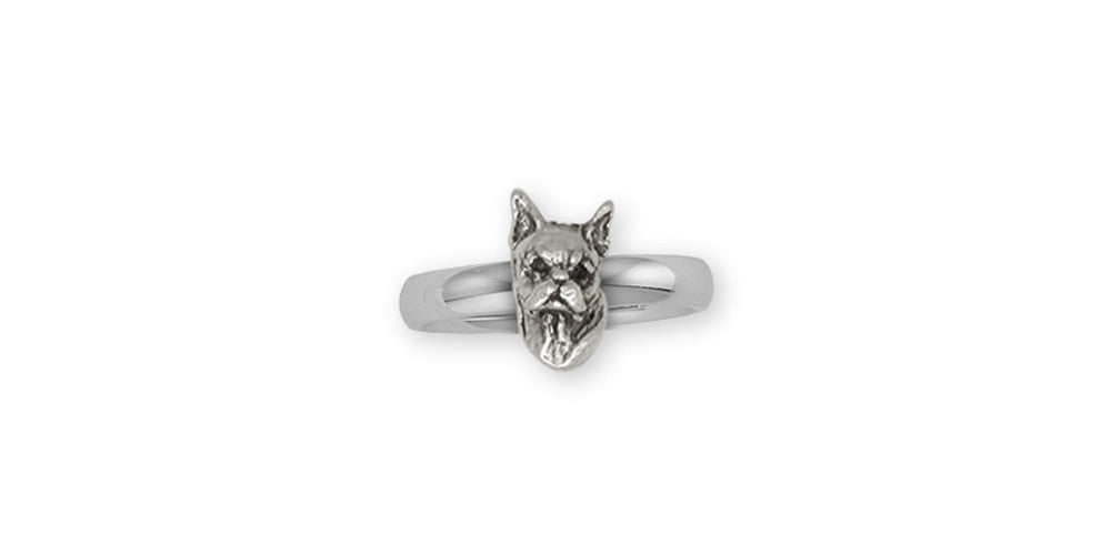 Boxer Charms Boxer Ring Sterling Silver Dog Jewelry Boxer jewelry