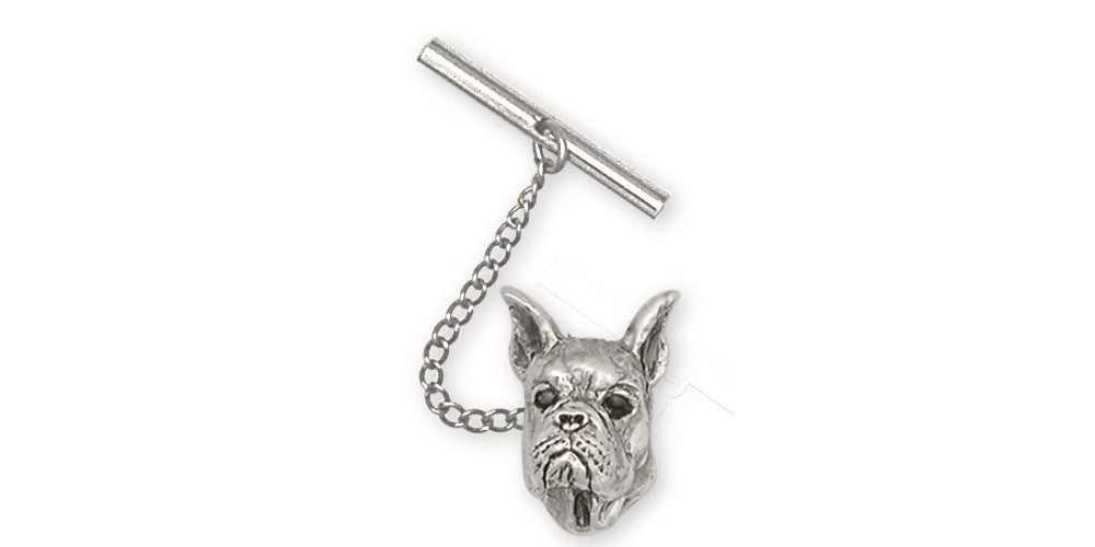Boxer Charms Boxer Tie Tack Sterling Silver Dog Jewelry Boxer jewelry