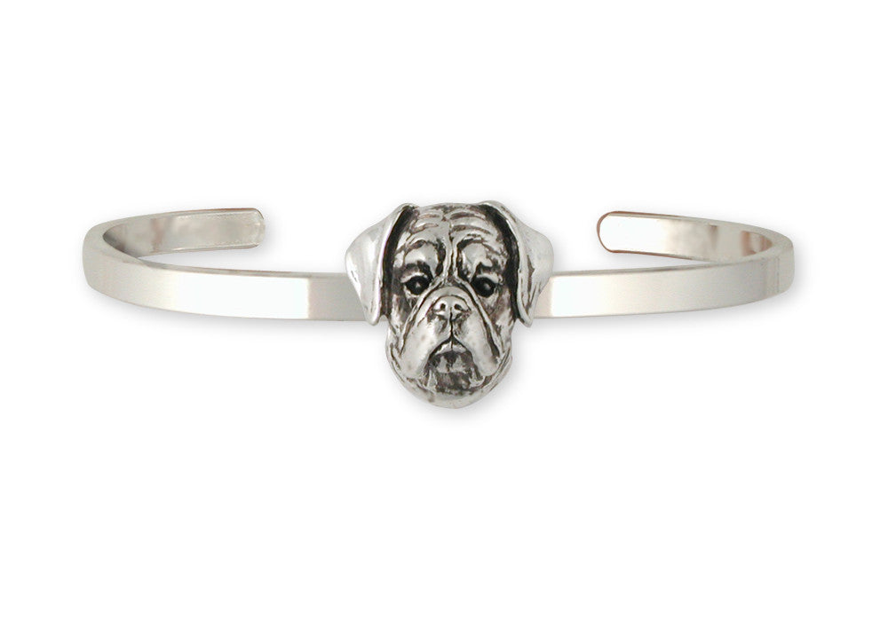 Boxer Charms Boxer Bracelet Sterling Silver Dog Jewelry Boxer jewelry