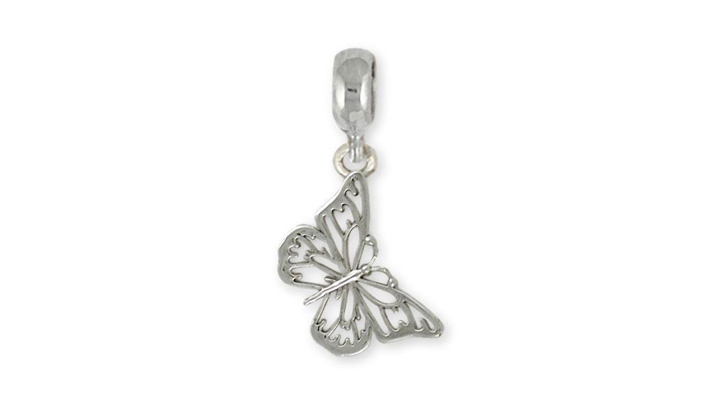 Butterfly Charms Butterfly Charm Slide Sterling Silver Butterfly Jewelry Butterfly jewelry
