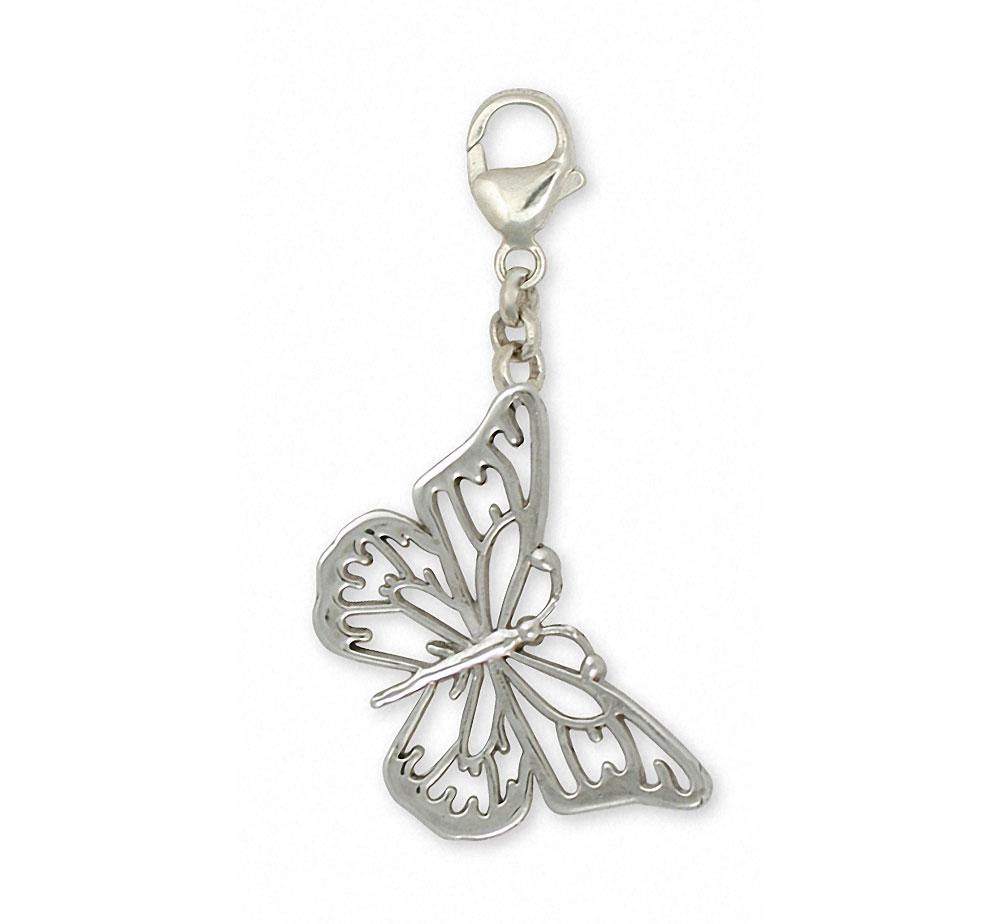 Butterfly Charms Butterfly Zipper Pull Sterling Silver Butterfly Jewelry Butterfly jewelry