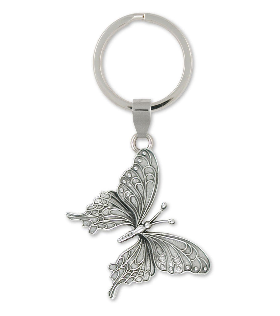 Butterfly Charms Butterfly Key Ring Sterling Silver Butterfly Jewelry Butterfly jewelry