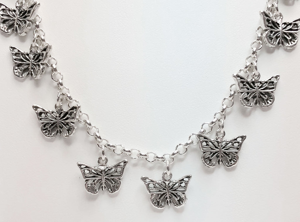 Butterfly Charms Butterfly Necklace Sterling Silver Fashion Jewelry Jewelry Butterfly jewelry