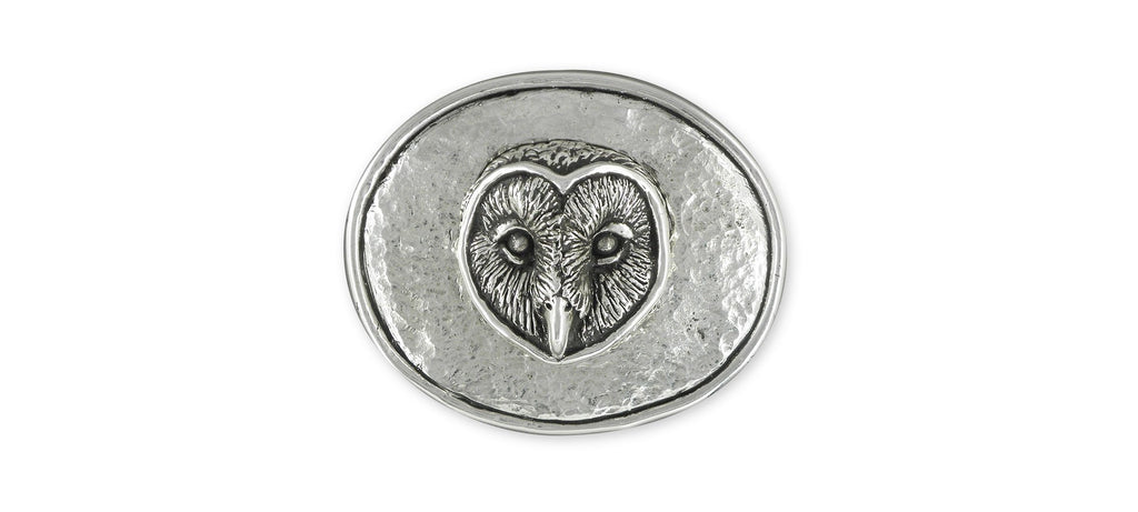 Owl Charms Owl Mans Belt Buckle Sterling Silver Owl Jewelry Owl jewelry