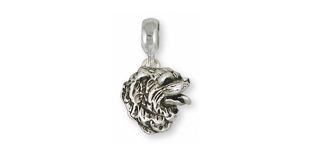 Chow Chow Charms Chow Chow Charm Slide Sterling Silver Dog Jewelry Chow Chow jewelry
