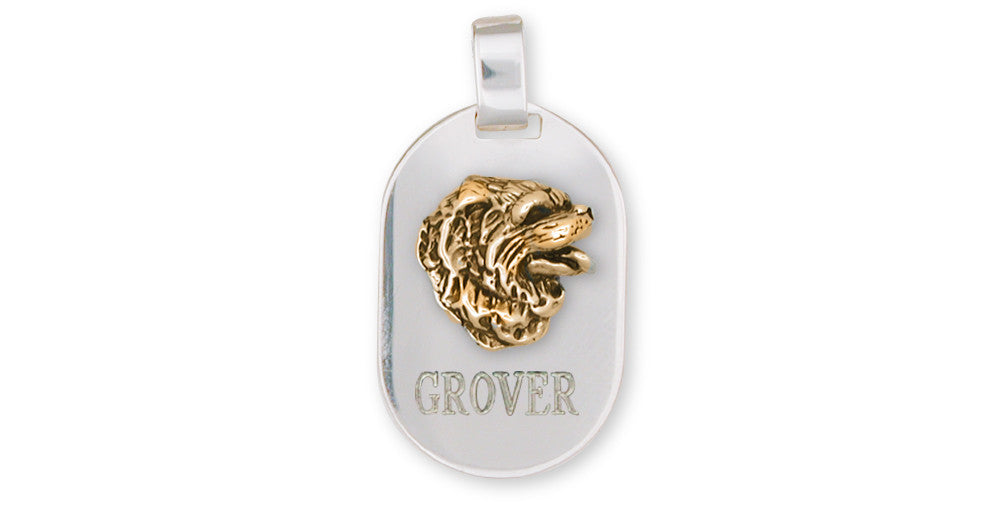 Chow Chow Charms Chow Chow Pendant Silver And Gold Dog Jewelry Chow Chow jewelry