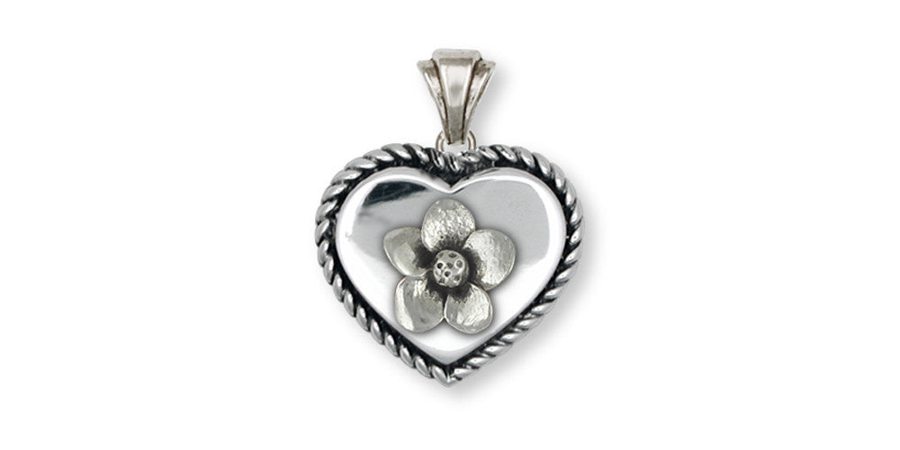 Cherry Blossom Charms Cherry Blossom Pendant Sterling Silver Flower Jewelry Cherry Blossom jewelry