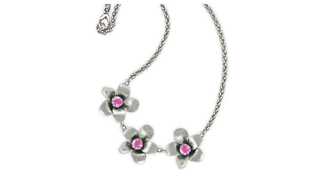 Cherry Blossom Charms Cherry Blossom Necklace Sterling Silver Flower Jewelry Cherry Blossom jewelry