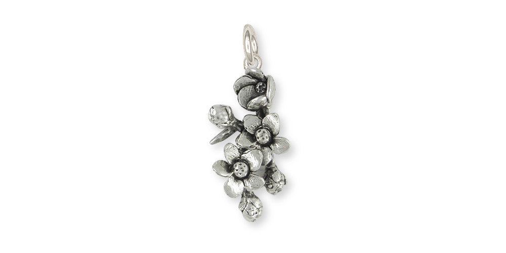 Cherry Blossom Charms Cherry Blossom Charm Sterling Silver Flower Jewelry Cherry Blossom jewelry
