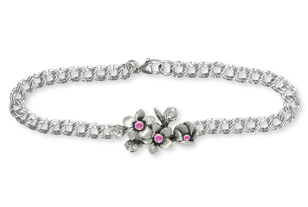 Cherry Blossom Charms Cherry Blossom Bracelet Sterling Silver Flower Jewelry Cherry Blossom jewelry