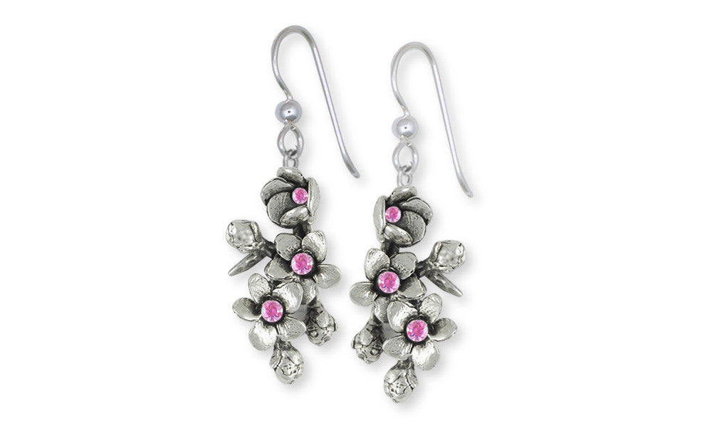 Cherry Blossom Charms Cherry Blossom Earrings Sterling Silver Flower Jewelry Cherry Blossom jewelry