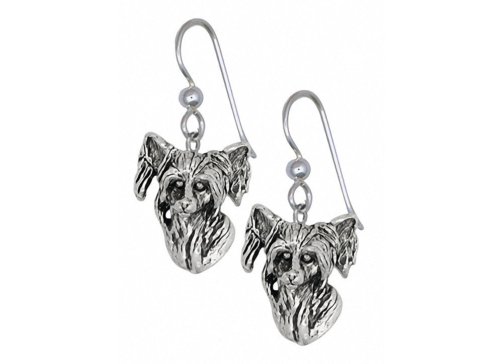 Chinese Crested Charms Chinese Crested Earrings Sterling Silver Dog Jewelry Chinese Crested jewelry