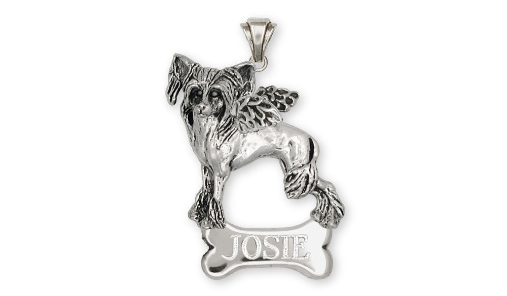 Chinese Crested Charms Chinese Crested Pendant Sterling Silver Dog Jewelry Chinese Crested jewelry
