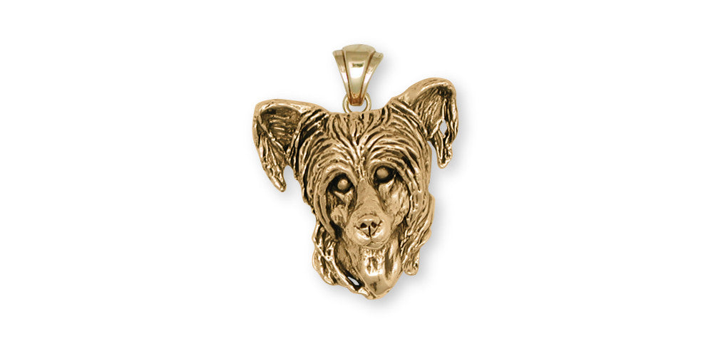 Chinese Crested Charms Chinese Crested Pendant 14k Gold Dog Jewelry Chinese Crested jewelry