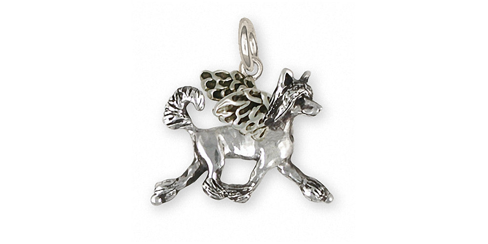 Chinese Crested Charms Chinese Crested Charm Sterling Silver Dog Jewelry Chinese Crested jewelry