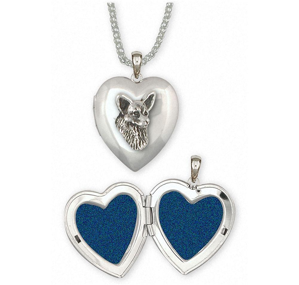 Corgi Charms Corgi Photo Locket Sterling Silver Dog Jewelry Corgi jewelry