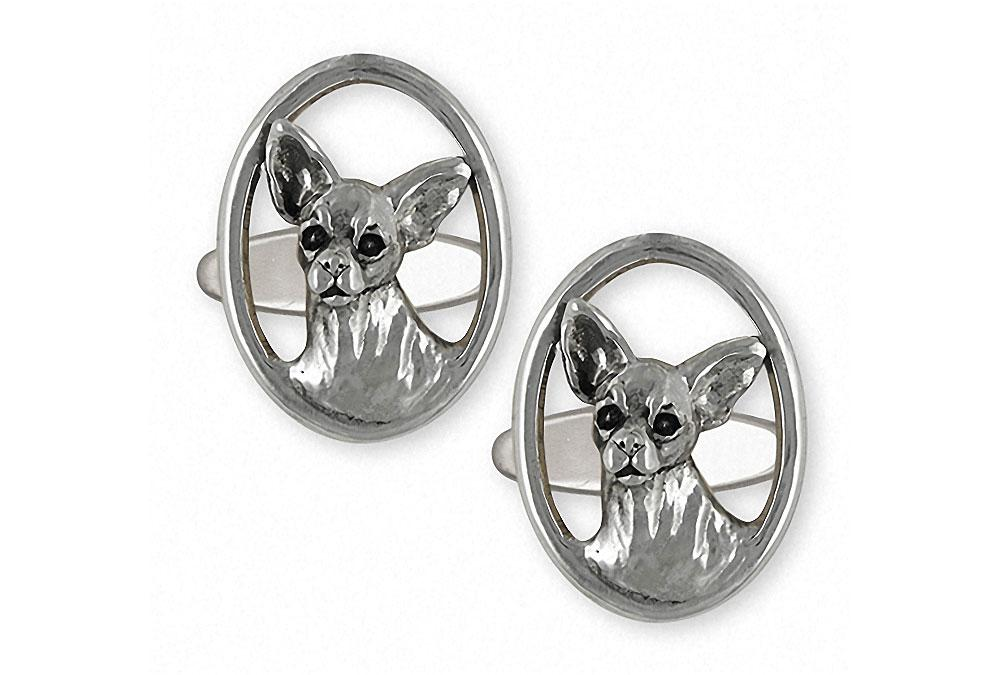 Chihuahua Charms Chihuahua Cufflinks Sterling Silver Dog Jewelry Chihuahua jewelry