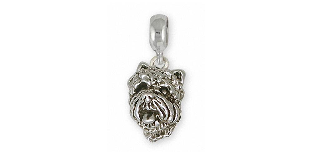 Westie Charms Westie Charm Slide Sterling Silver West Highland White Terrier Jewelry Westie jewelry