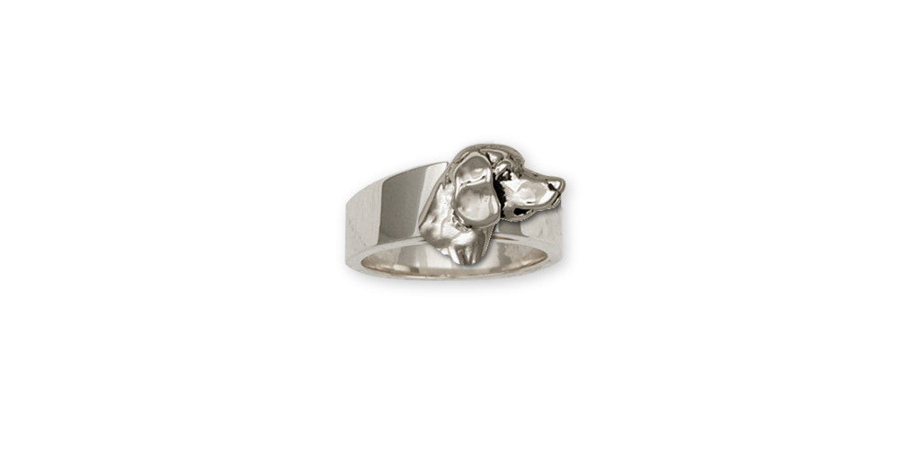 Beagle Charms Beagle Ring Sterling Silver Dog Jewelry Beagle jewelry