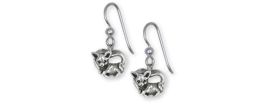 Chihuahua Charms Chihuahua Earrings Sterling Silver Chihuahua Jewelry Chihuahua jewelry