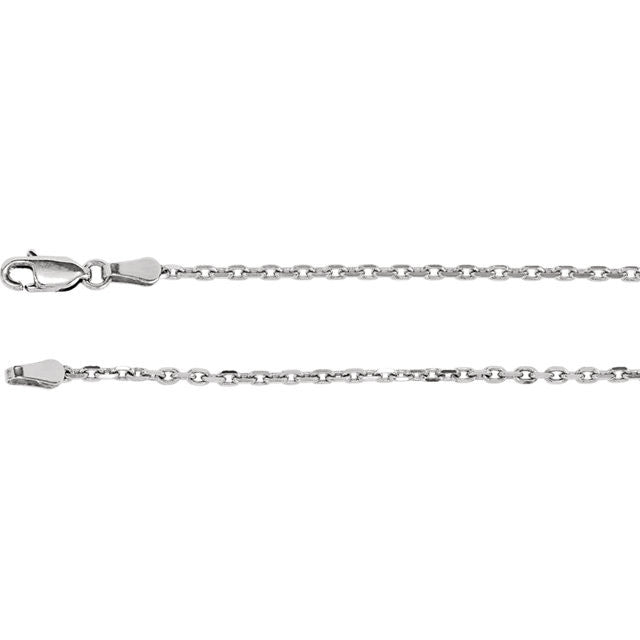 Diamond Cut Cable Chain, 16 Inches Long 2 Mm  - Ch524-16 Charms Diamond Cut Cable Chain, 16 Inches Long 2 Mm  - Ch524-16  Sterling Silver  Jewelry Diamond Cut Cable Chain, 16 inches Long 2 mm  - CH524-16 jewelry