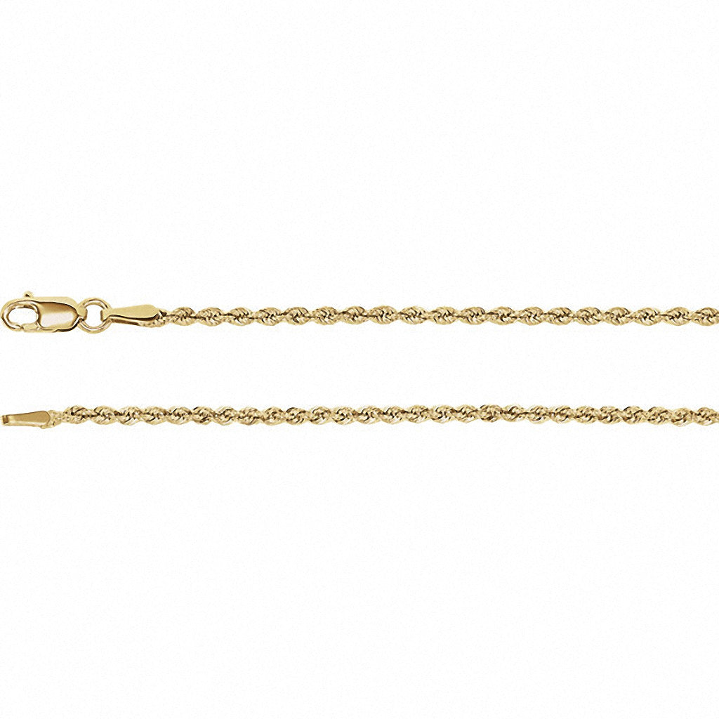 Rope Chain, 18 Inches Long 1.85 Mm  - Ch956g-18 Charms Rope Chain, 18 Inches Long 1.85 Mm  - Ch956g-18  14k Yellow Gold  Jewelry Rope Chain, 18 Inches Long 1.85 mm  - CH956G-18 jewelry