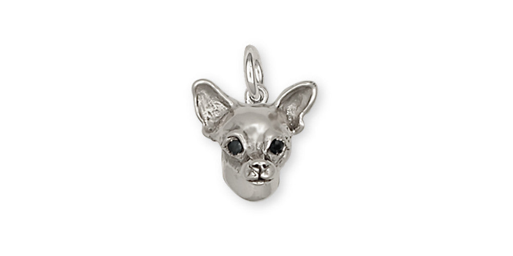 Chihuahua Dog Charms Chihuahua Dog Charm Handmade Sterling Silver Dog Jewelry Chihuahua Dog jewelry