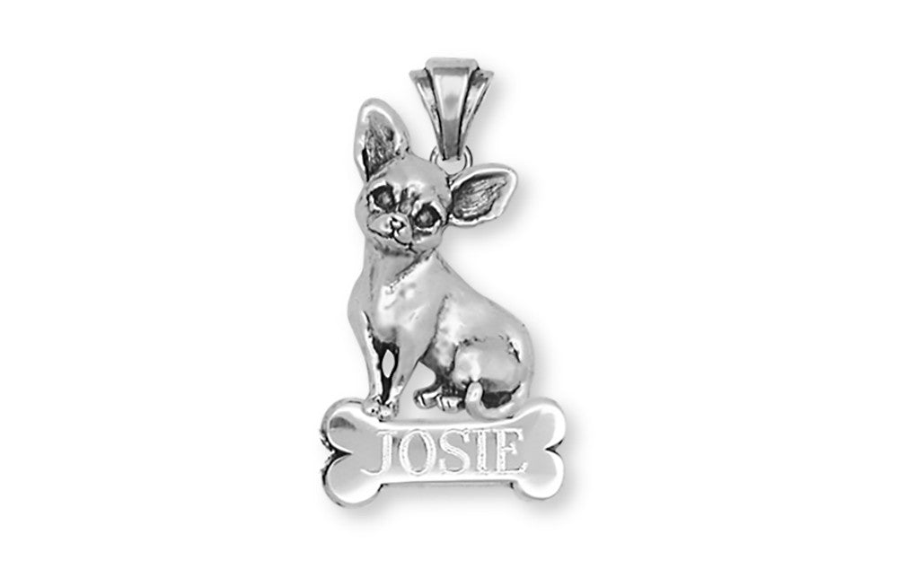 Chihuahua Dog Charms Chihuahua Dog Personalized Pendant Handmade Sterling Silver Dog Jewelry Chihuahua Dog jewelry